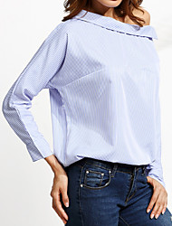 preiswerte -Damen Gestreift-Aktiv T-shirt