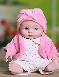 cheap -NPK DOLL Reborn Doll Baby Girl 10 inch Full Body Silicone / Silicone / Vinyl - Hand Applied Eyelashes, Tipped and Sealed Nails, Floppy Head Kid's Unisex Gift / Natural Skin Tone