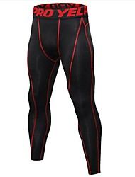 cheap -Men's 1pc Running Tights - Black / Silver, Black / Red, Black / Green Sports Tights Fitness, Gym, Workout Activewear Lightweight, Quick Dry, Anatomic Design Stretchy
