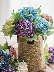 Недорогие -Искусственные Цветы 1 Филиал Деревня / Свадебные цветы Гортензии Букеты на стол