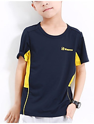 cheap -Boys' Sports School Color Block Tee, Polyester Summer Short Sleeves Active Orange Red Gray Light gray Royal Blue