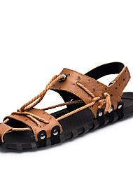 Недорогие -Муж. Искусственная кожа Весна / Лето Удобная обувь Сандалии Черный / Коричневый