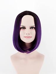 Недорогие -Парики из искусственных волос Прямой Искусственные волосы Природные волосы Фиолетовый Парик Жен. Короткие Без шапочки-основы Фиолетовый