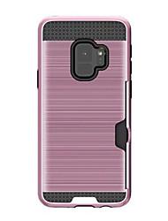 abordables -Funda Para Samsung Galaxy A8 Plus 2018 / A8 2018 Soporte de Coche Funda Trasera Un Color Dura Silicona para A8 2018 / A8+ 2018