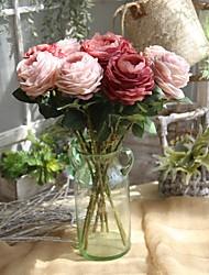 cheap -Artificial Flowers 1 Branch European / Wedding Roses Tabletop Flower