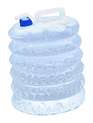 Недорогие -Походный чайник Походное складное ведро 5;10;15 L На открытом воздухе Складной за пластик на открытом воздухе Походы Прозрачный