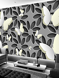 Недорогие -3d арт полые и белые бабочки большие настенные покрытия настенные обои подходят спальня ресторан искусство