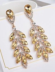 cheap -Women's Bohemian Leaf Crystal Drop Earrings - Bohemian / Elegant Red / Blue / Champagne Earrings For Gift / Evening Party