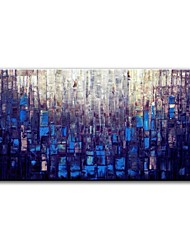 cheap -STYLEDECOR Modern Hand Painted Blue Abstract Color Block Canvas Oil Painting for Wall Art