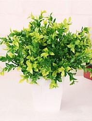 baratos -2 Ramo Plástico Plantas Flor de Mesa Flores artificiais Decoração para casa Bouquets de Noiva