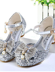 cheap -Girls' Shoes Sparkling Glitter Summer Flower Girl Shoes Comfort Sandals Rhinestone Bowknot Pearl Buckle for Wedding Dress Gold Silver Pink