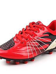 baratos -Homens sapatos Couro Ecológico Primavera Outono Conforto Tênis Futebol para Atlético Casual Prateado Vermelho Verde Azul