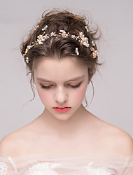 abordables -Strass Bandeaux with Strass Perle 1pc Mariage Fête / Soirée Casque