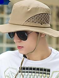 Недорогие -Муж. Соломенная шляпа - Сетка Хлопок, Однотонный