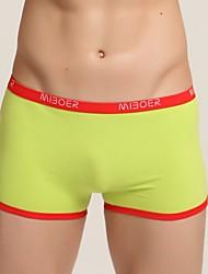 cheap -Men's Normal Micro-elastic Solid Briefs Underwear Medium, Polyester/Cotton 1pc Green White Black Red Gray