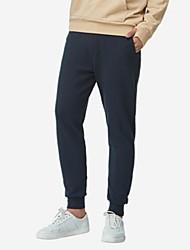 economico -pantaloni chino anelastici normali da uomo di media altezza, semplice cotone solido primavera / autunno