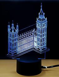 Недорогие -1 комплект 3D ночной свет DC Powered Стресс и тревога помощи С портом USB Меняет цвета