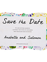 cheap -Flat Card Wedding Invitations 20-Pack 50-Pack - Invitations Sets Artistic Style Pearl Paper