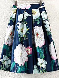 cheap -Women's Going out Active A Line Skirts - Floral, Print