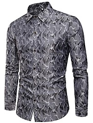 cheap -Men's Plus Size Cotton Shirt - Camouflage / Please choose one size larger according to your normal size. / Long Sleeve