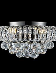 abordables -3 lumières Montage du flux Lumière dirigée vers le bas Chrome Métal Cristal 110-120V / 220-240V Blanc Crème Ampoule non incluse / E12 / E14