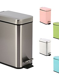 cheap -5L Stainless Steel Padel Slow Type Muted Trash Can Fingerprint Resistant Ash Can Macarons Colorful Garbage Rectangle Can N46-5L
