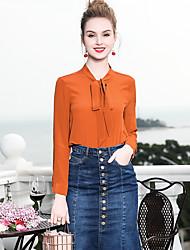 baratos -Mulheres Camisa Social Negócio Básico,Sólido