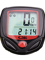 cheap -SD-548A Bike Computer/Bicycle Computer Stopwatch Waterproof Backlight LCD Display Speedometer Elapsed Time Wired Multi-function Freeze