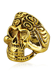 cheap -Men's Cool Colorful Skull Statement Ring - Colorful / Rock Gold / Silver / Rainbow Ring For Bar / Club