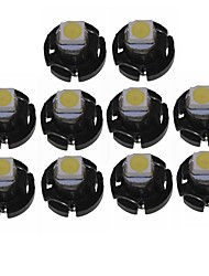 Недорогие -SENCART 10 шт. T3 Автомобиль Лампы W lm 1 Светодиодные лампы Внутреннее освещение ForУниверсальный Все года