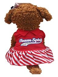 abordables -Chiens Robe Vêtements pour Chien Slogan Rouge Coton Costume Pour les animaux domestiques Mode
