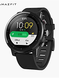 abordables -original xiaomi huami amazfit stratos smart sport montre version2 1.34 pouces 2.5d écran 5atm résistant à l'eau gps-édition internationale