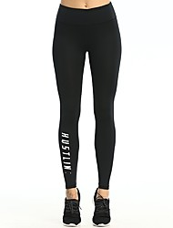 cheap -Women's Running Tights - Black Sports Pants / Trousers / Leggings Yoga, Fitness, Gym Activewear Fast Dry, Butt Lift Stretchy