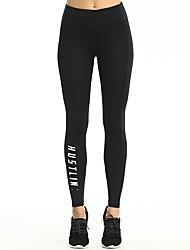 abordables -Mujer Pantalones ajustados de running - Negro Deportes Pantalones / Sobrepantalón / Leggings Ropa de Deporte Secado rápido, Levantamiento
