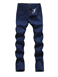 cheap -Men's Cotton Slim Chinos Pants - Solid Colored Print