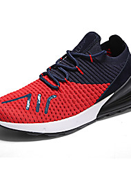 cheap -Men's Light Soles Suede / Faux Leather / Mesh Spring Comfort Athletic Shoes Running Shoes / Hiking Shoes / Cycling Shoes Color Block White / Black / Red / Walking Shoes