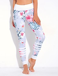 cheap -women's sporty legging - print, floral galaxy