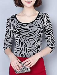 cheap -Women's Basic Blouse - Leopard Print, Modern Style