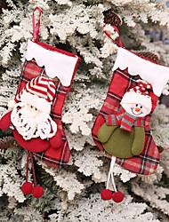 baratos -Meias Finas Férias Família Natal Separada Confeccionada à Mão Bolsas Multi funções Decoração de Natal