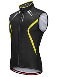 cheap -WOSAWE Sleeveless Cycling Vest - Black/Yellow Bike