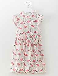 cheap -Kids Toddler Girls' Simple Casual Floral Sleeveless Cotton Dress