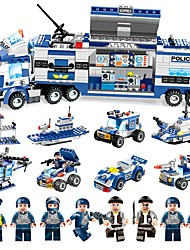 cheap -BEIQI Building Blocks 762 pcs Military Police Stress and Anxiety Relief Parent-Child Interaction Classic Military Vehicle Police car Boys' Girls' Toy Gift