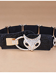 cheap -Women's Vintage Alloy Wide Belt - Solid Colored