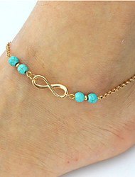 cheap -Turquoise Anklet - Bohemian, Fashion Gold / Silver Infinity For Date / Bikini / Women's