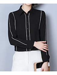 cheap -Women's Cute Cotton Blouse Shirt Collar