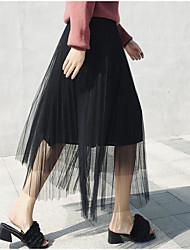 preiswerte -Damen A-Linie Röcke - Solide, Patchwork