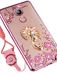 abordables -Coque Pour Huawei Mate 8 Antichoc Strass Avec Support Coque Fleur Flexible Silicone pour Huawei Mate 8