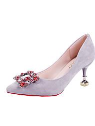 preiswerte -Damen Schuhe PU Herbst Pumps Komfort High Heels Stöckelabsatz Spitze Zehe für Normal Kleid Schwarz Grau Rosa