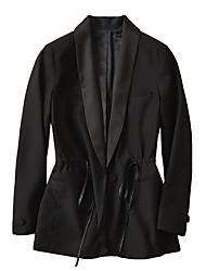 Flettet, Dame Ensfarvet Vintage Trenchcoat