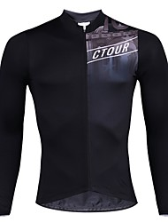 cheap -SPAKCT Men's Long Sleeve Cycling Jersey - Black Bike Jersey, Quick Dry / Expert / YKK Zipper / Italy Imported Ink / Breathable Armpits